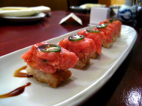 yen sushi spicy tuna