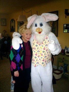 easter grandma w bunny