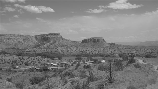 Santa Fe, NM June 2010 173georgia black and white landscape