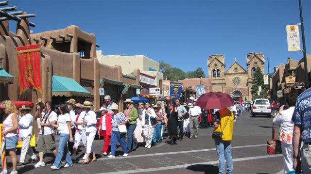 Catholic Procession - Downtown Santa Fe