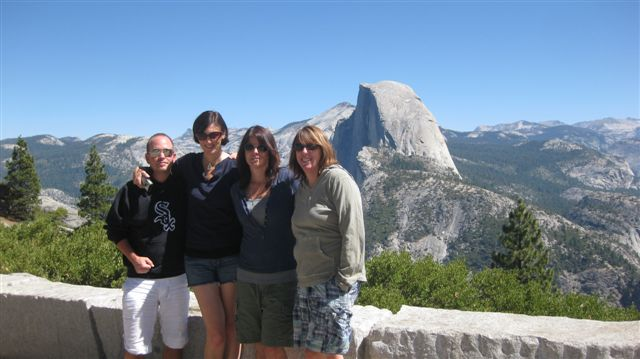 Bun Boy and the gang posing by Half Dome.
