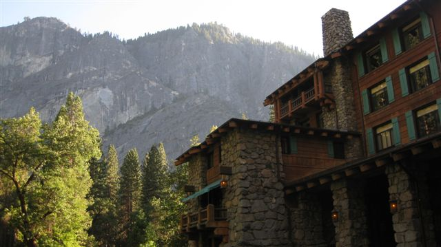 The historic Ahwahnee Hotel for drinks!