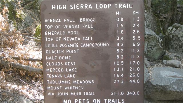 We only got as far as the Top of Vernal Falls.