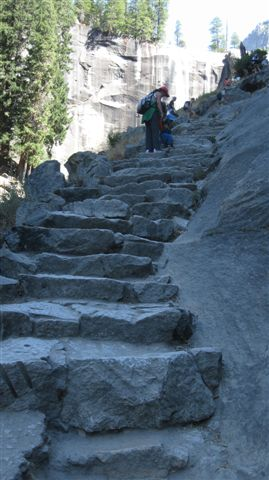 The annoying steps up to Vernal Falls