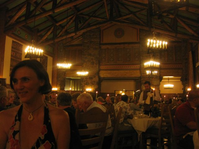 Dinner at Hogwarts! Seriously, The Ahwahnee dining room looked just like Harry Potter!