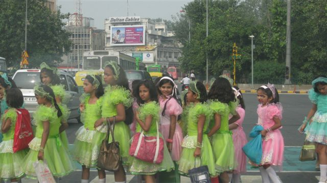 School Children crossing the street - Cars trying their best to hit them!