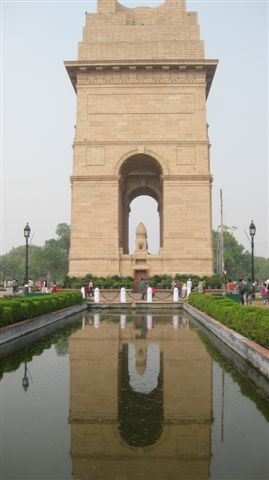 The India Gate - Gift from the British; a thank you for letting us crash all this time!