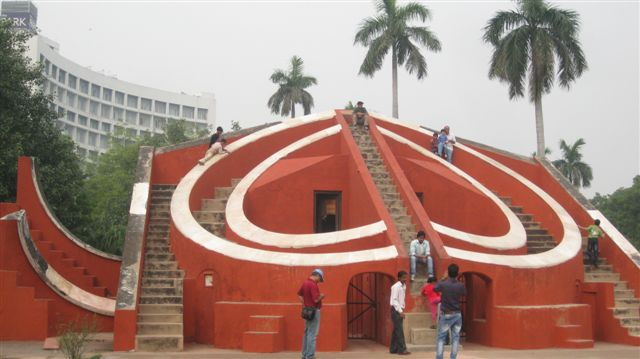 Jantar Mantar - Old Observatory and apparent skate park!