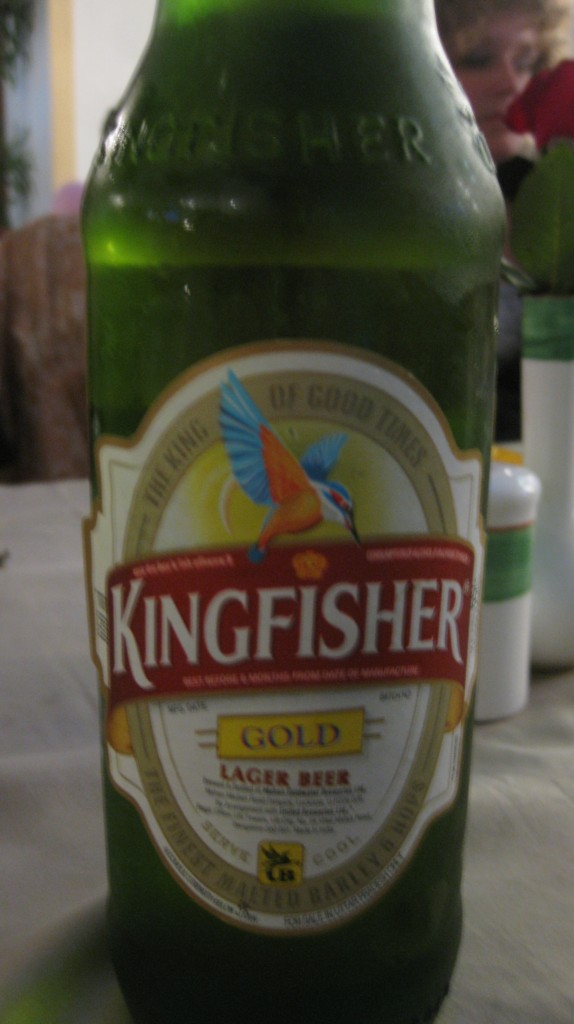 The Official Beer of India. Bottled at the Source (the Ganges)