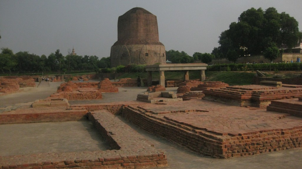 The spot where Lord Buddha gave his first sermon.