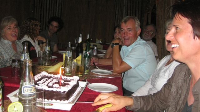 "We celebrated a birthday during that nights' dinner. Soggy chocolate ""cake"" anyone?"