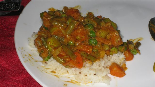 Vegetable Curry. VERY tasty.