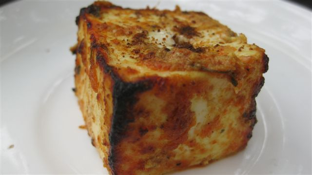 Tandoori Paneer (burnt Indian cheese)