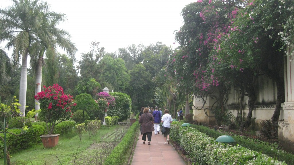 India loves their gardens! The flowers mask the smell.