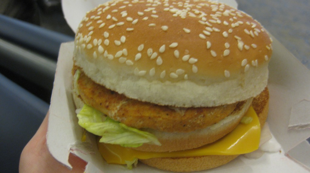 "India's Big Mac, The ""Maharaja Mac"" (chicken)"