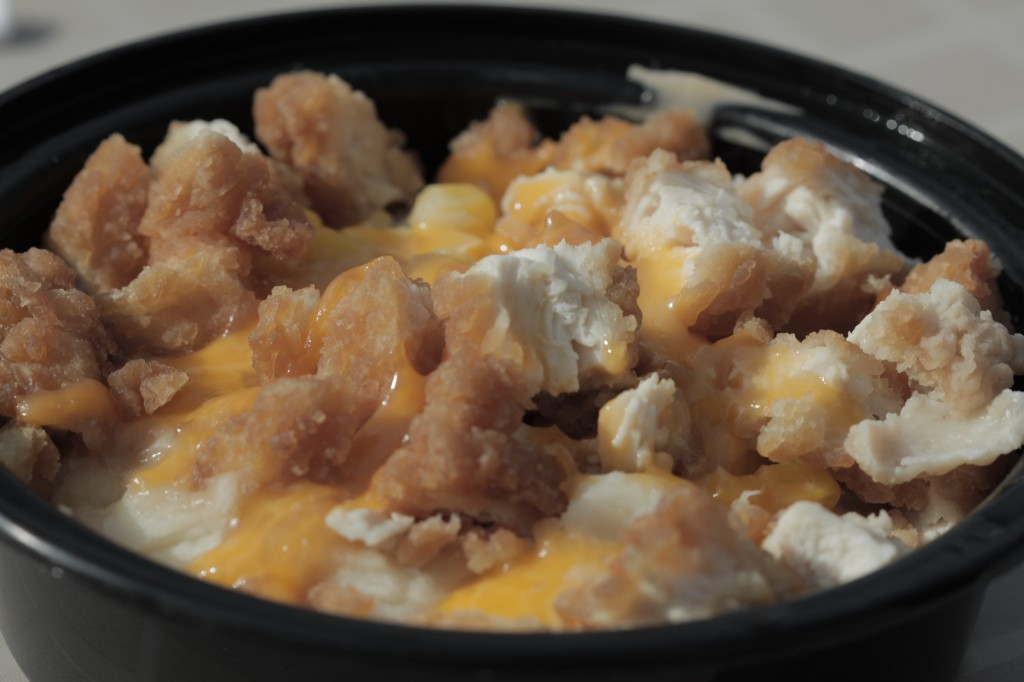 This is called a Chicken Smasher - homemade from a local deli - think KFC