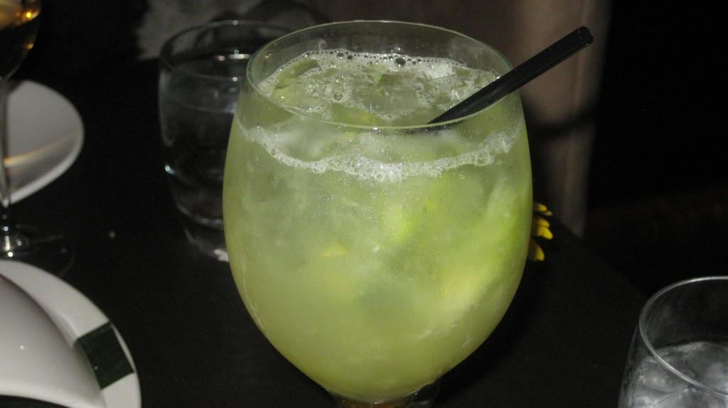 Spagarita! A Margarita with lemon and cucumber
