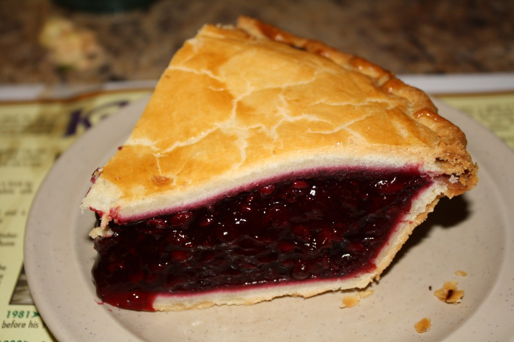 Boysenberry Pie - Crappy crust, overly sweet filling. Delicious!