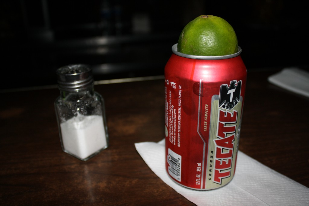 This is how you drink a Tecate!