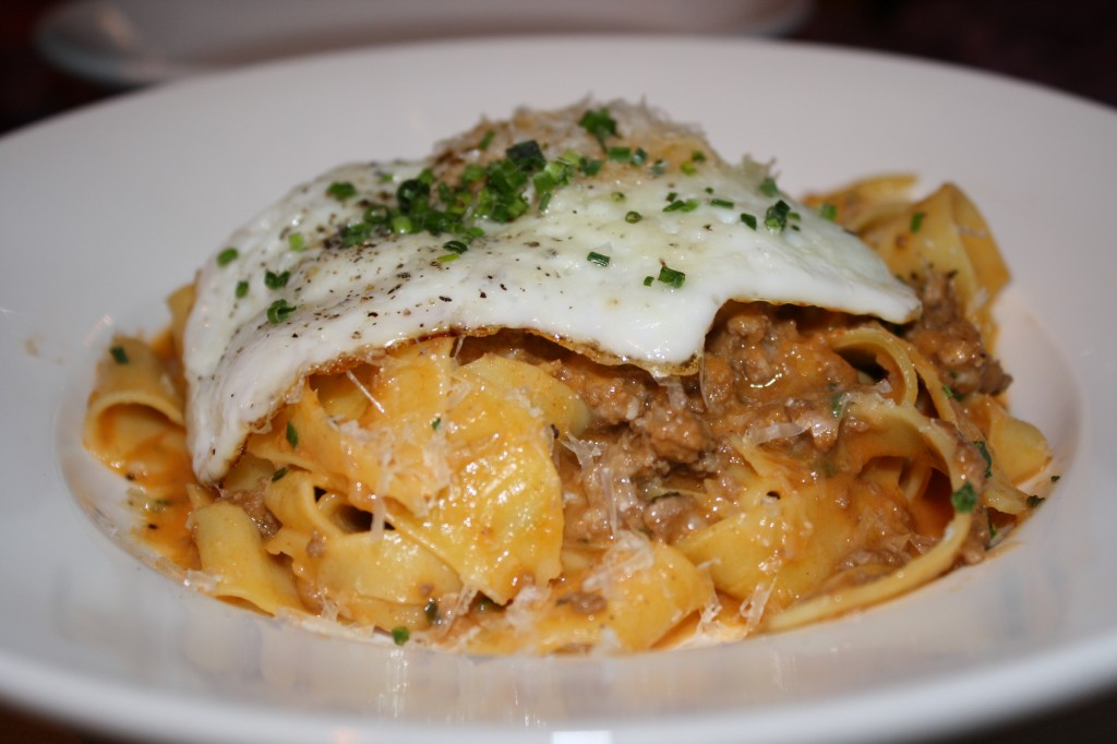 Bolognese with Fried Egg!