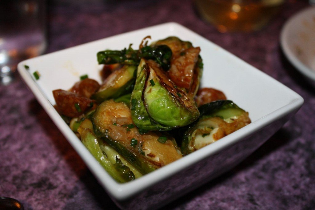 Roasted Brussels Sprouts with Chorizo Picante