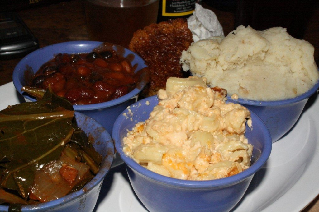 The Side Car - Mac and Cheese, Collard Greens, Baked Beans, Mashed Pots