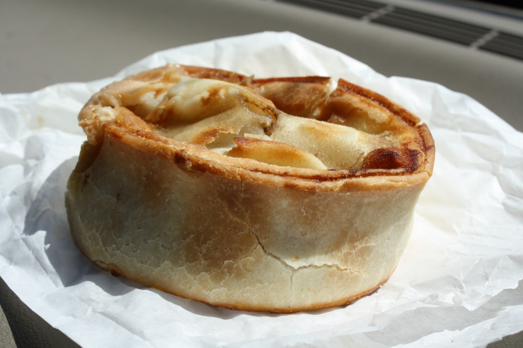 Time to leave, a Scottish Pie for the road...