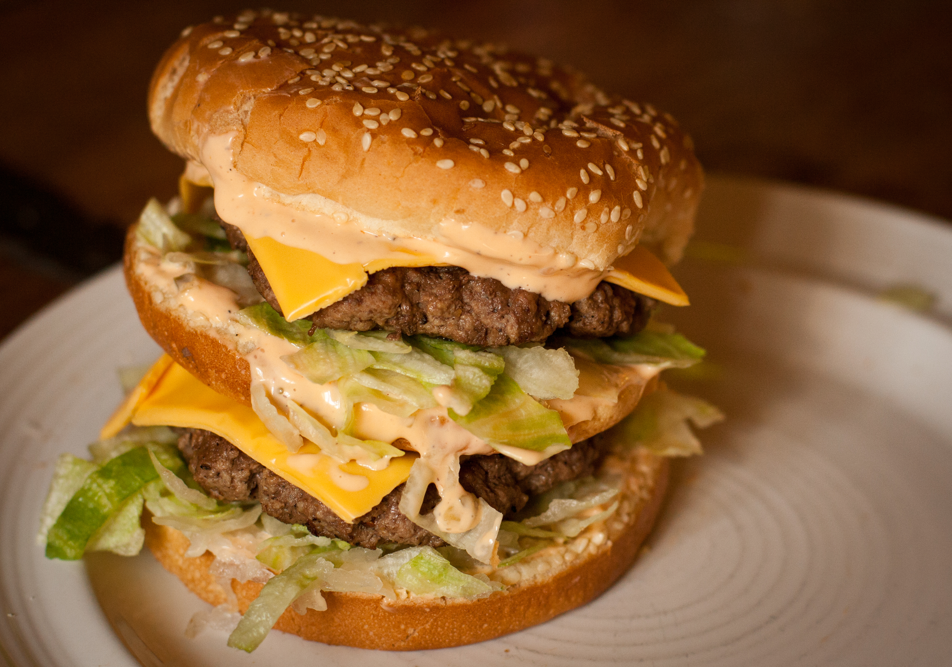 Big Mac except made with real food products!