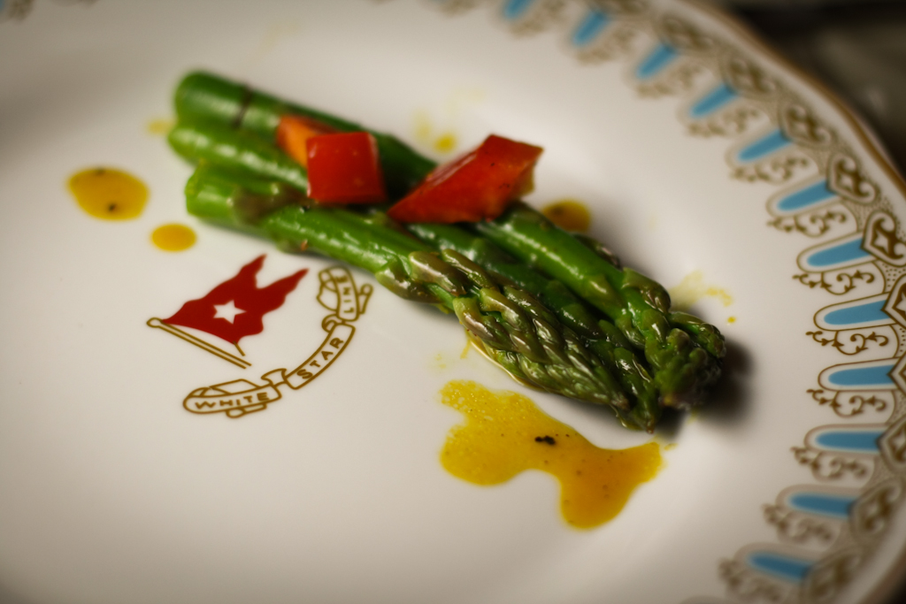 2nd Course - Asparagus Salad with Champagne Saffron Vinaigrette