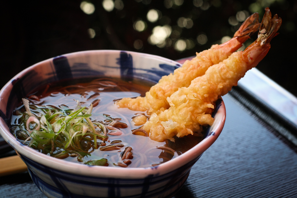 Hot Soba - Ebi Shrimp Tempura