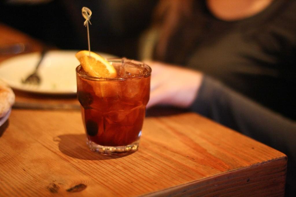 SOB Cowboy - bourbon, cherry, cacao, mole bitters