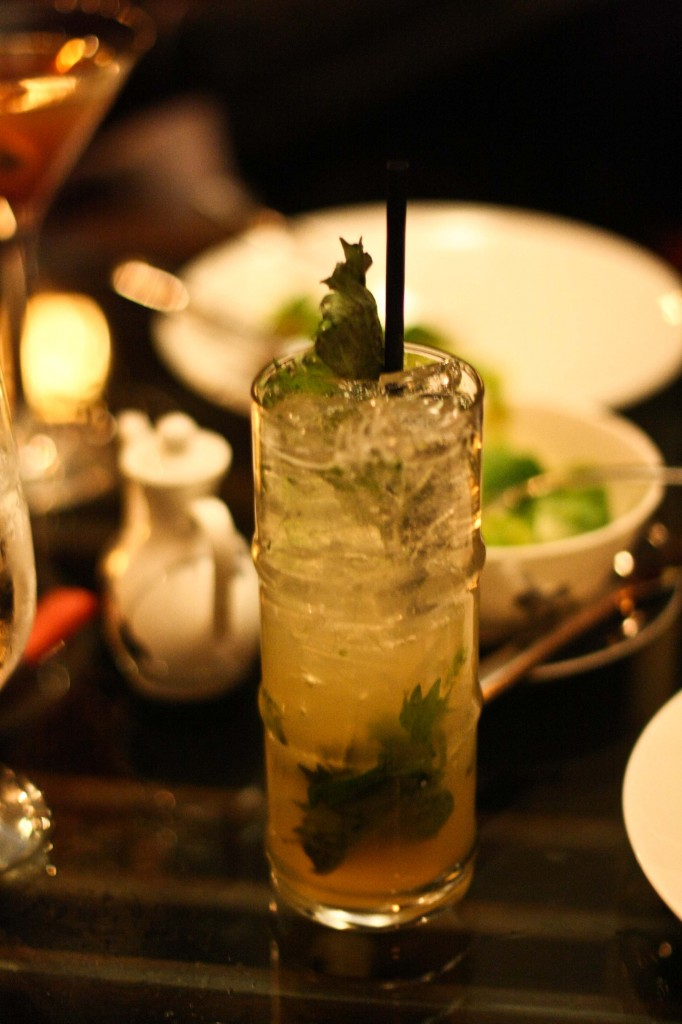 Kowloon Cooler - Rum, Jasmine Liqueur, Shisho, Fresh Lime and Prosecco