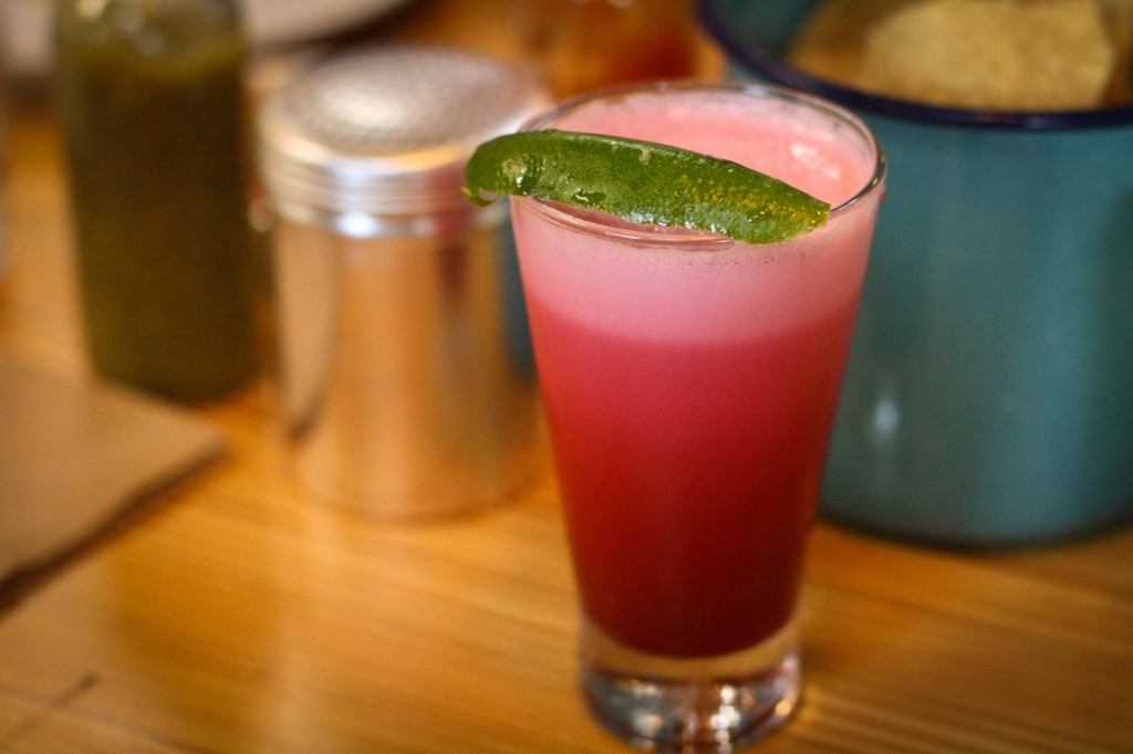 Jamaichael Jordan - Pisco, lime, caramelized pineapple syrup, raspberry-hibiscus agro dulce, egg white, Chinese cinnamon