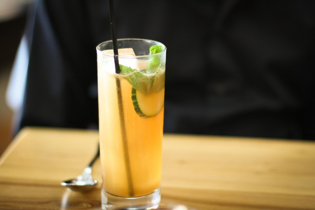 Ted's Cup | housemade scotch-based liqueur, mint, cucumber, citrus, birch beer