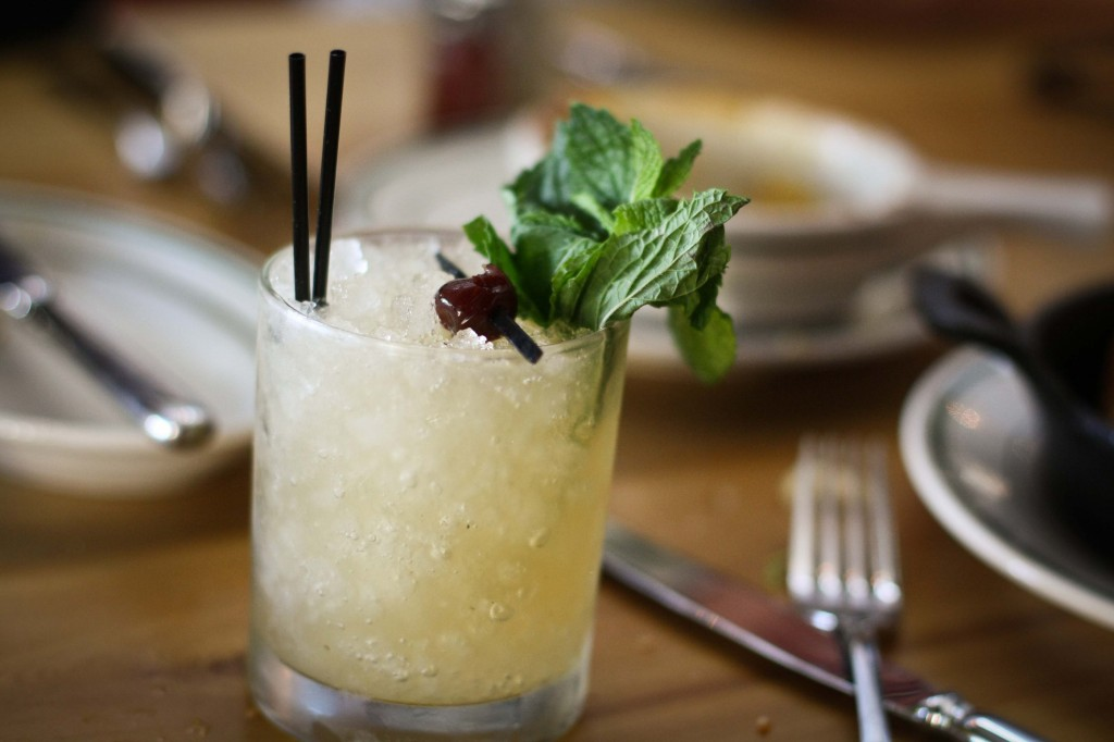 Catalina Eddy | Jamaican rum, white demerara rum, house made banana cordial, honey, lime