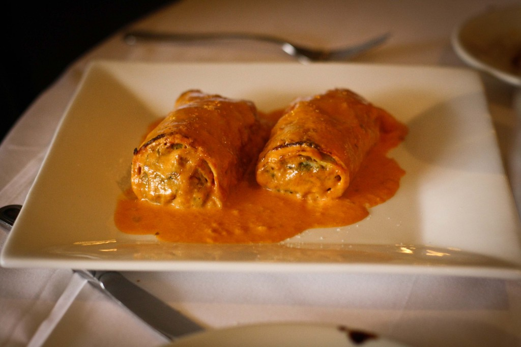 Cannelloni di Verdure - Veggie stuffed pasta with a tomato cream sauce