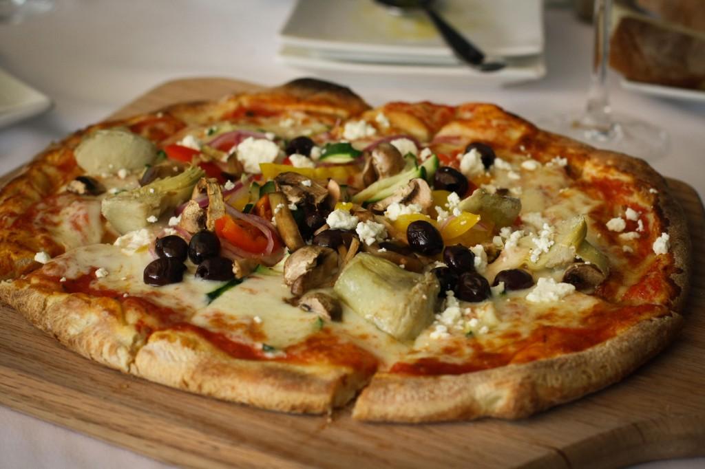Garden Vegetable Flatbread Pizza