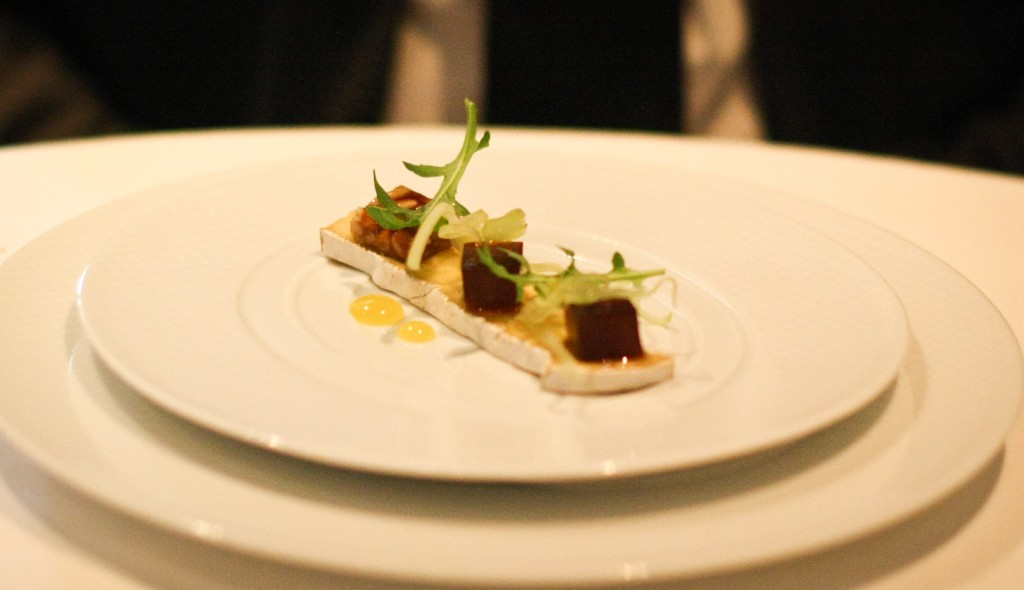 """Andante Dairy """"Legato"""" - Black Mission Fig, Young Fennel and Pine Nut """"Nouget"""""""