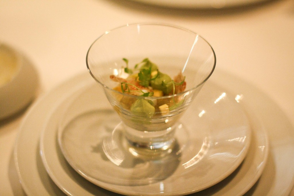 """Cobb Salad"" - ""Fourme d'Ambert"", Applewood Smoked Bacon, Buttermilk ""Panna Cotta"", Romaine Lettuce, Hard Boiled Egg and Scallioin Salad"