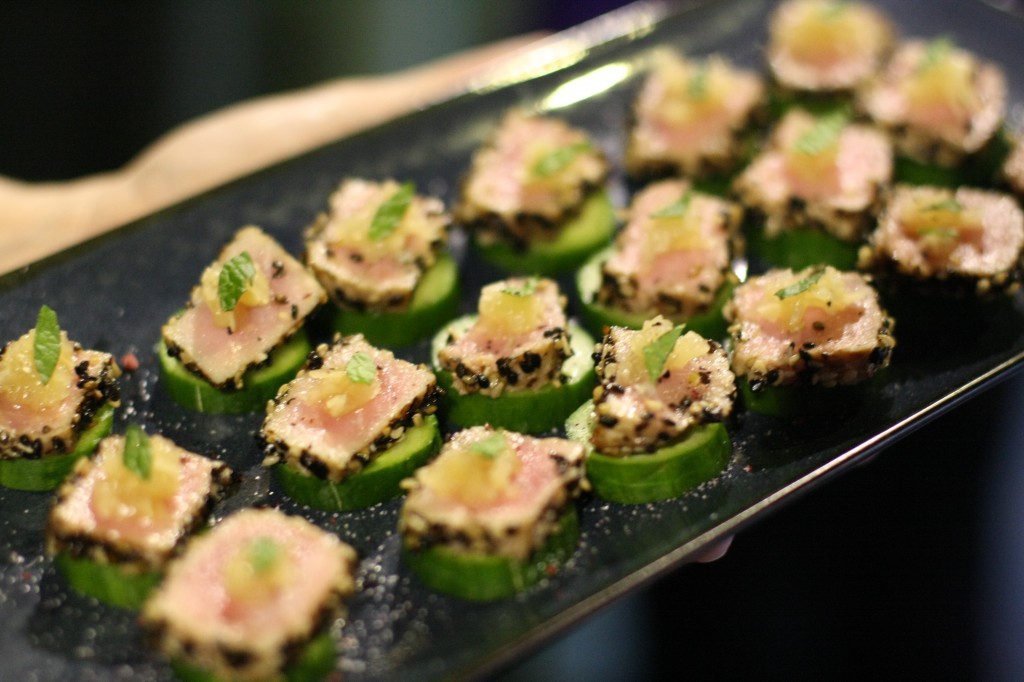 Tuna on Cucumber