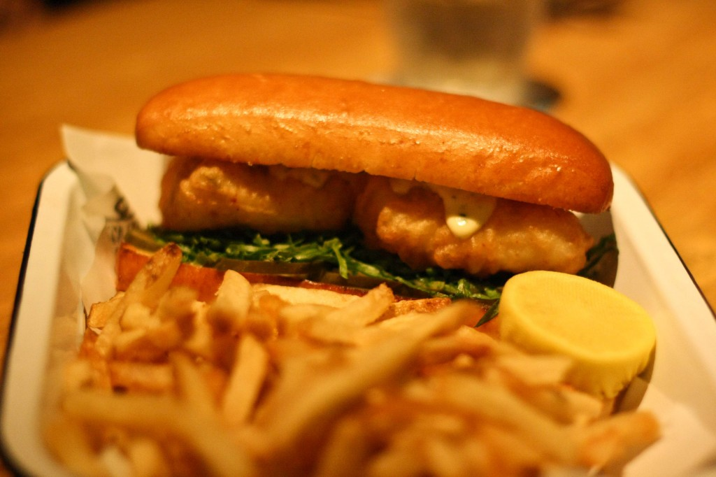 Batter Dipped Cod Sandwich