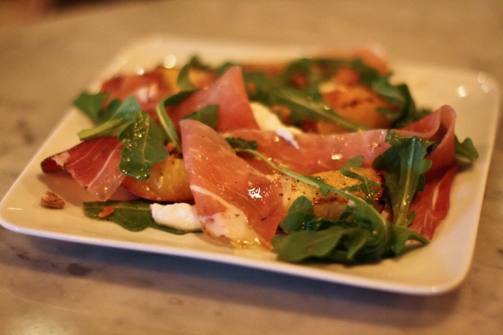 Wood Roasted Peaches / Speck/Burrata/Arugula/Marcona Almonds