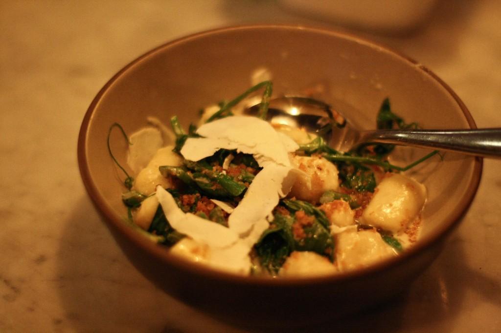 Ricotta Gnocchi / Asparagus/Pea Tendrils/Lemon