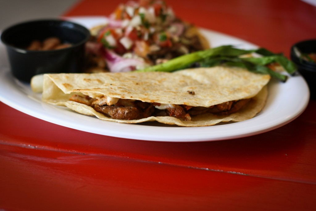Vampiro - Quesadilla with Al Pastor and Garlic Sauce