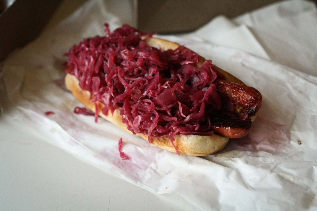 The Red Baron - Polish with Red Cabbage and Mustard