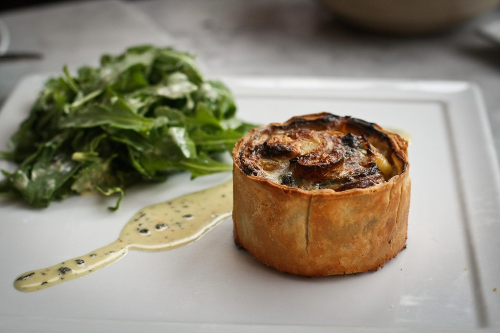 Potato, Spinach and Leek Tart