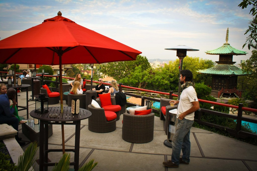 The Pagoda Bar offers drinks with an incredible view.