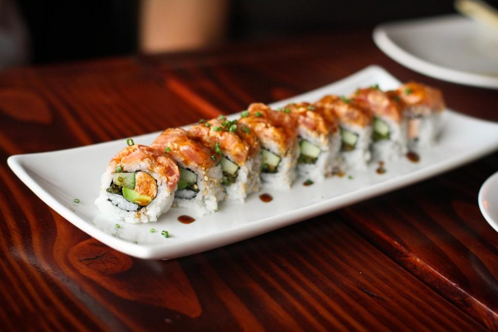 Spicy Tuna and Soy-Roasted Shishito