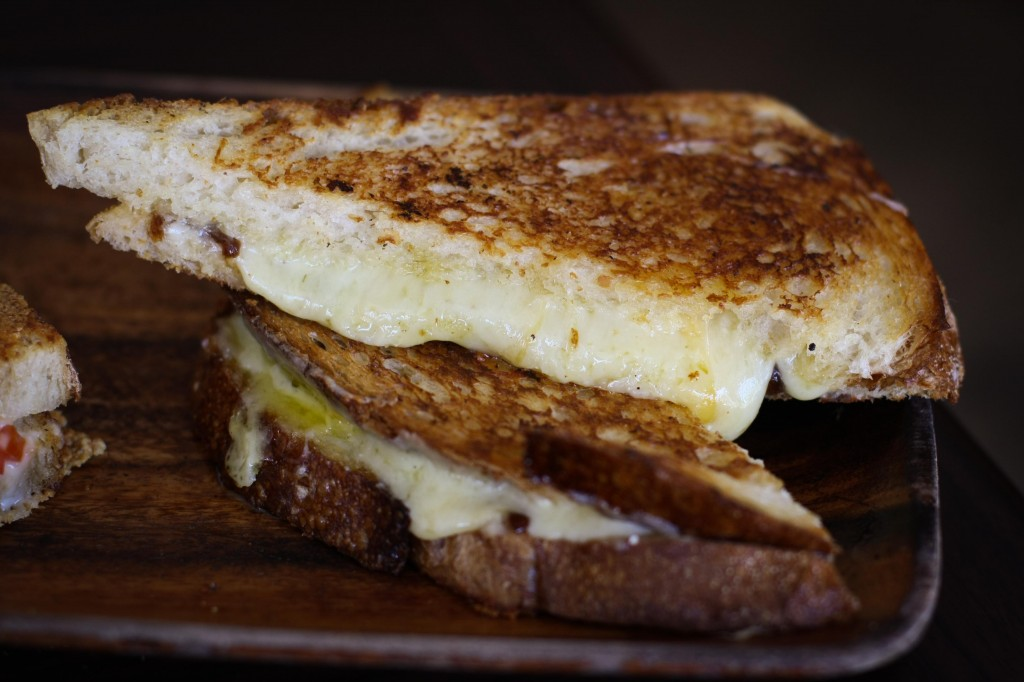 The Heywood - 2 Year Old English Cheddar with a Carmelized Onion Confit on Toasted Sourdough