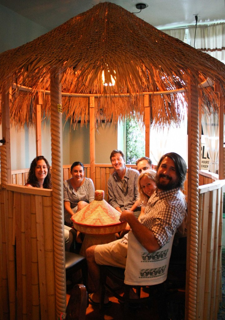 We had just enough people to fit in this odd but fun hut. If someone else would have joined us, we would have hated them for depriving us of our hut experience.